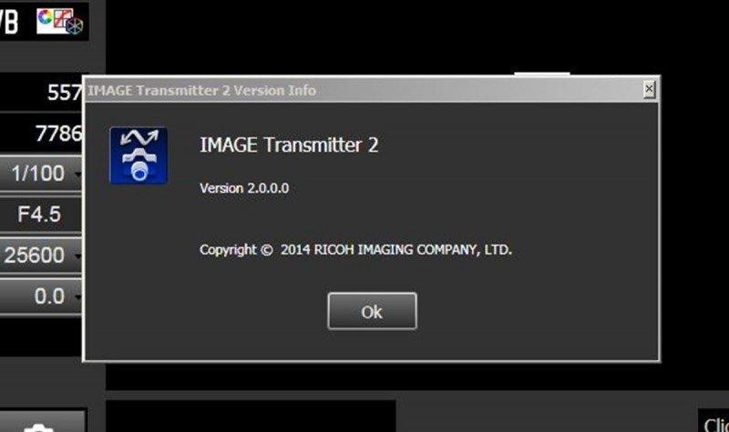 IMAGE Transmitter 2 version screen