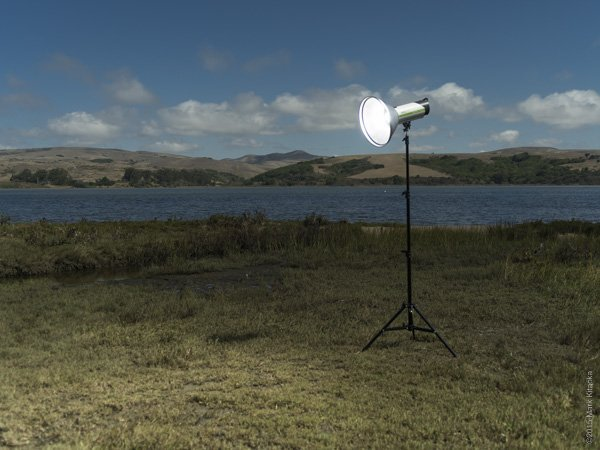 """Priolite MBX1000 Hotsync with PCB's Omni 18"""" Reflector attached. Pentax 645Z 1/2500th f4.5 ISO 100"""